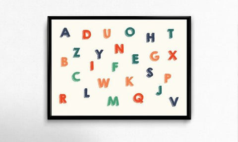 Alphabet Art Print by Godly Gorgeous