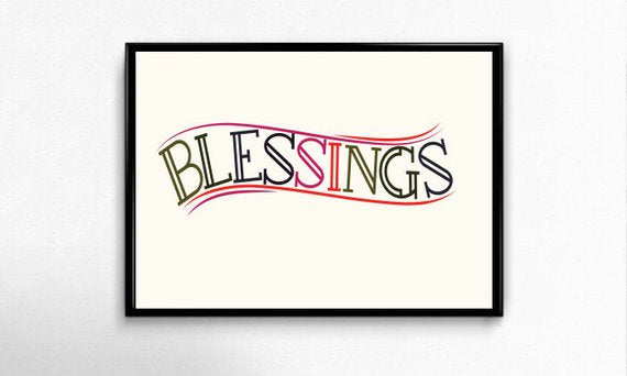 Blessings Art Print by Godly Gorgeous