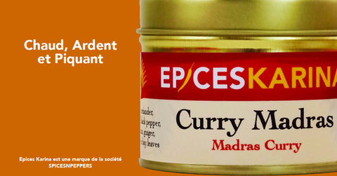 Curry de Madras : chaud, ardent et piquant !