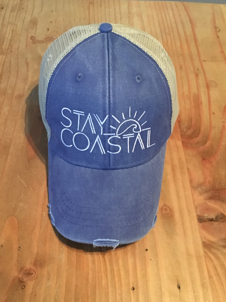 Distressed Embroidered Trucker