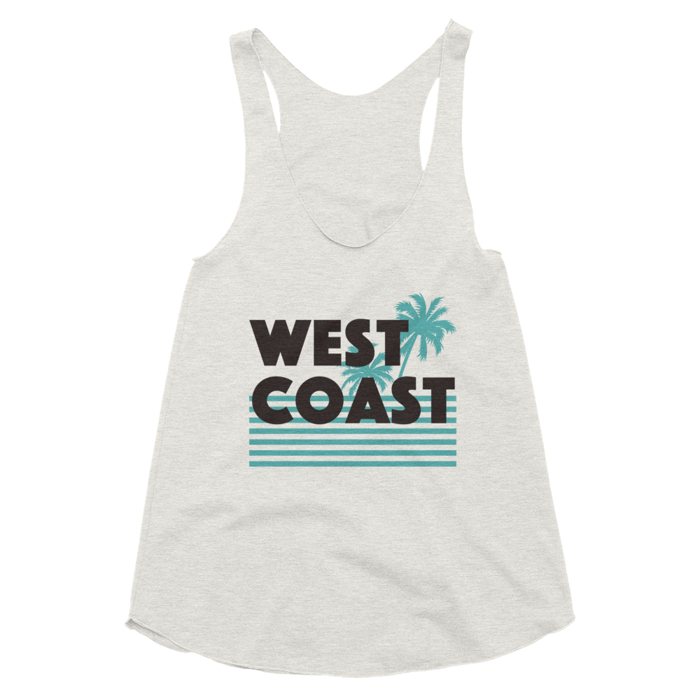 Beach West Tri-Blend Racerback Tank