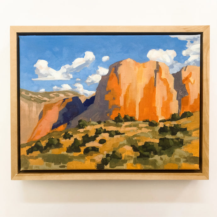 Zion // Landscape Painting Framed 9x12 - Mallery Jane