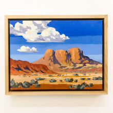 Load image into Gallery viewer, Back in the West // Landscape Painting Framed 9x12 - Mallery Jane