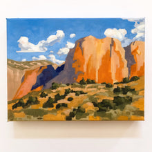Load image into Gallery viewer, Zion // Landscape Painting Framed 9x12 - Mallery Jane
