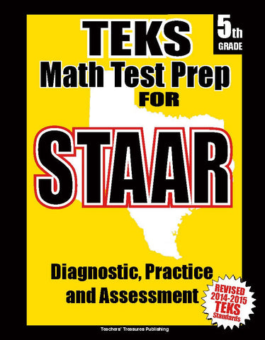 5th Grade STAAR Math Test Prep - TeachersTreasures.com
