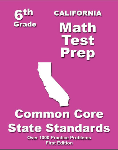 6th Grade California Common Core Math - TeachersTreasures.com