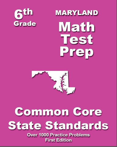 6th Grade Maryland Common Core Math - TeachersTreasures.com