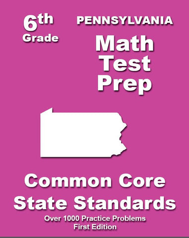 6th Grade Pennsylvania Common Core Math - TeachersTreasures.com