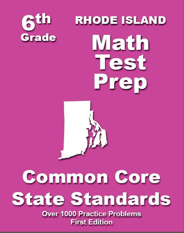 6th Grade Rhode Island Common Core Math - TeachersTreasures.com