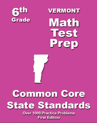 6th Grade Vermont Common Core Math - TeachersTreasures.com