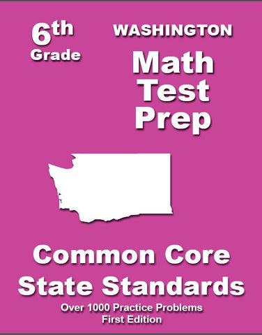 6th Grade Washington Common Core Math - TeachersTreasures.com