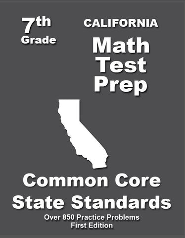 7th Grade California Common Core Math - TeachersTreasures.com