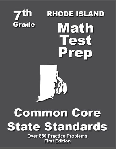 7th Grade Rhode Island Common Core Math - TeachersTreasures.com