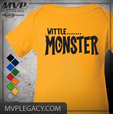 BABY - WITTLE MONSTER T-SHIRT/BODYSUIT - NEWBORN - TODDLER