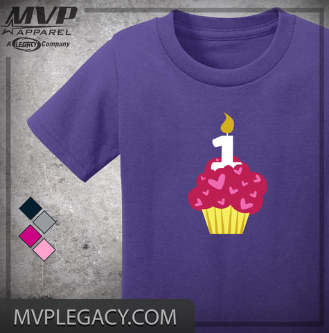 BABY - FIRST BIRTHDAY CUPCAKE T-SHIRT
