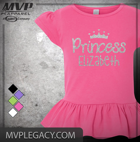 BABY - Personalized Princess Glitter t-shirt