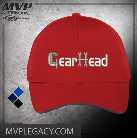 Car-GearHead Hat, Great gift for the shadetree mechanic or car enthusiast. Street rod lover.