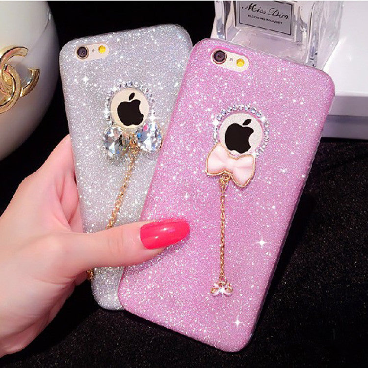 Diamond Glitter Bow iPhone Case
