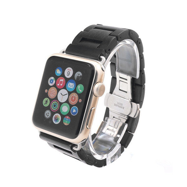 Ebony Wood Link Watch Apple Band