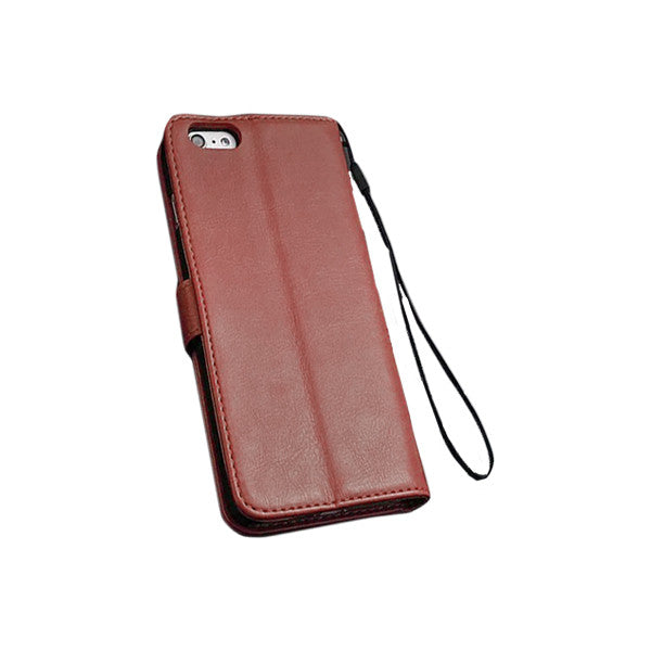 All-In-One Leather iPhone Case w/ Wallet and Stand