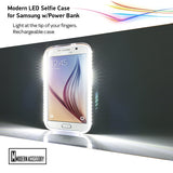Modern LED Galaxy Selfie Case w/Power Bank