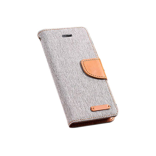 Cloth and Leather Flip/Wallet/Stand Case for iPhone 6