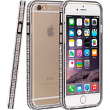 Apple iPhone 6/6S Naked Bling Hybrid Case