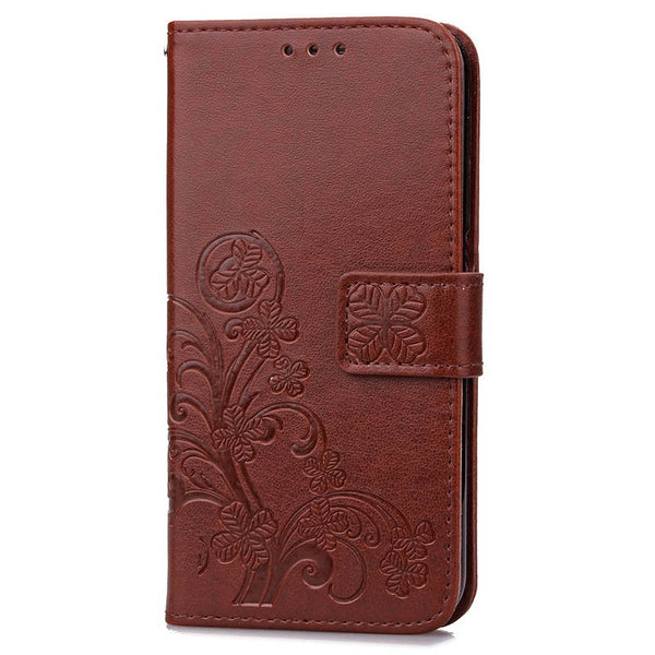 Lucky Flower Wallet Leather iPhone Case