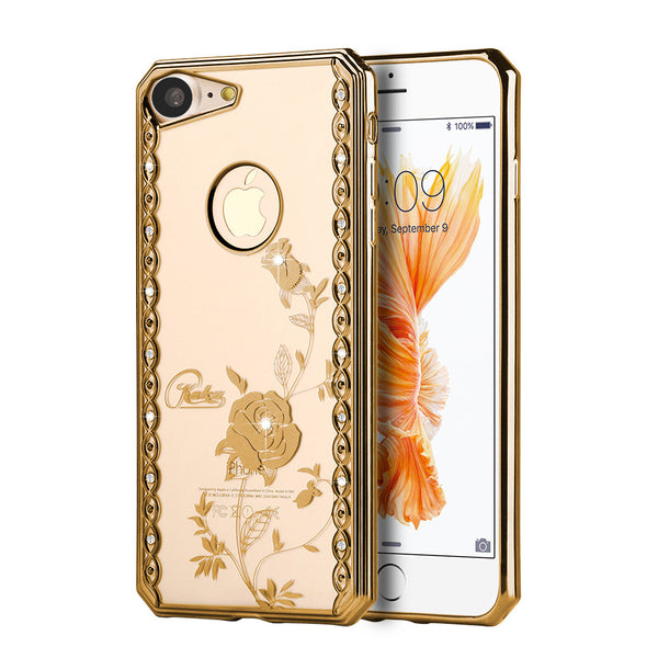 Diamond Electroplated Chrome iPhone Case