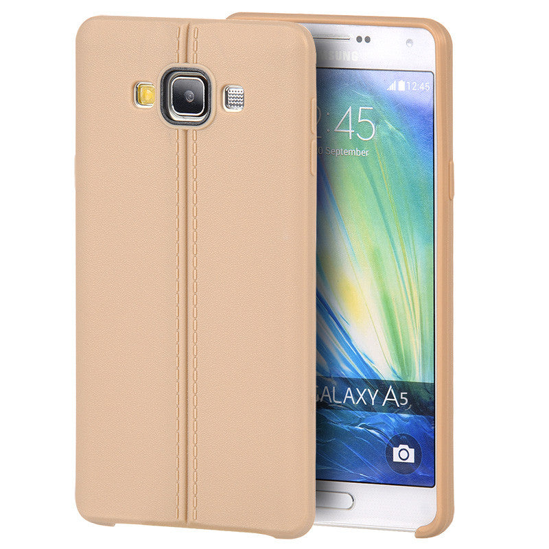 Samsung Galaxy A5 Slim Jacket TPU Case With Leather Look Finish