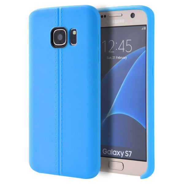 Samsung Galaxy S7 Slim Jacket TPU Case W/   Leather Look