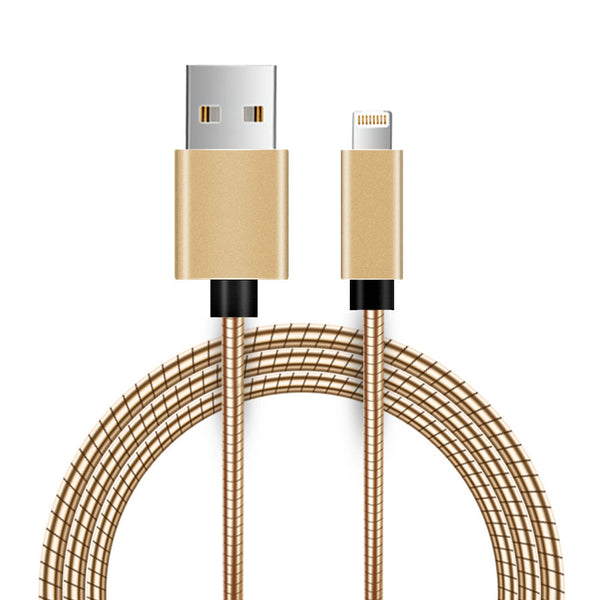 Apple 8 Pin Metal Snake Cable With Aluminum Connectors