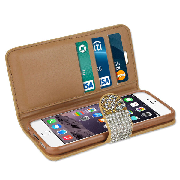 Jewelry Rhinestone iPhone Wallet Case