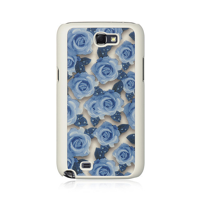 Samsung Galaxy Note 2 Crystal Rubber Case W/Fabric
