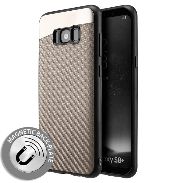 Samsung Galaxy Carbon Metallic Fusion Candy Case TPU With Carbon Fiber Finish - Grey