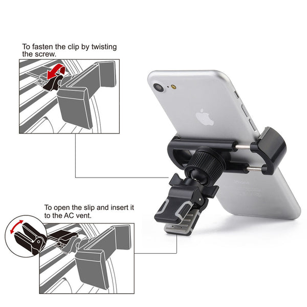 Universal Air Vent Car Mount Holder With 360 Degree Rotatable Swivel Head For Mobile Phone & Devices