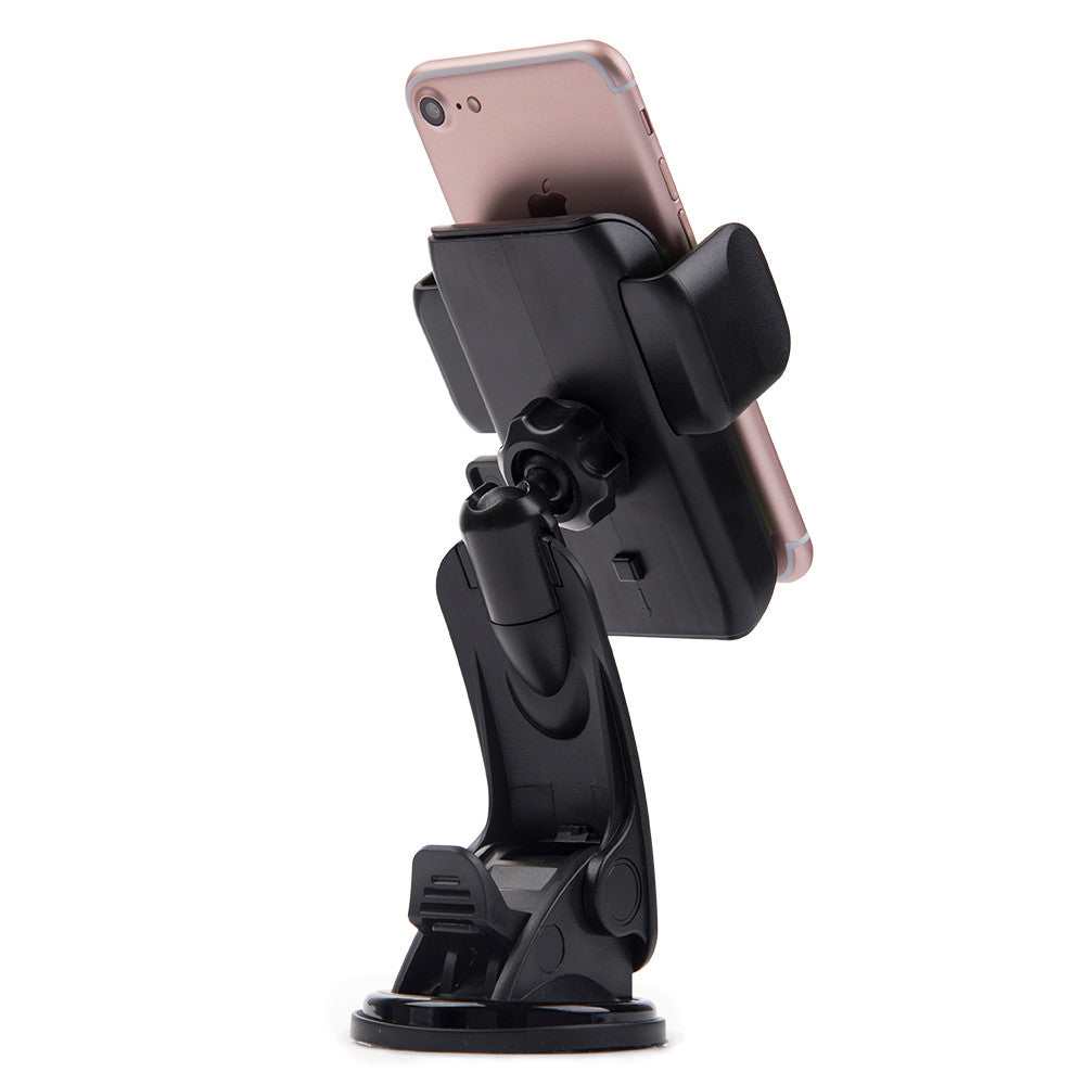 #35 Universal Car Dash Window Mount Phone Holder With Ple Adjustable Angles And Quick Release Function
