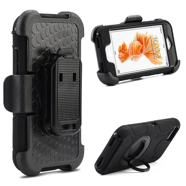 Apple iPhone7 Plus Anti-Shock Case Holster Combo W/ Stand