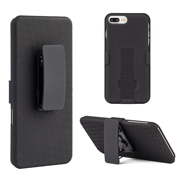 Apple iPhone7 Plus Snap On Case Skew Pc With Holster Combo