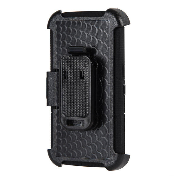 Samsung Galaxy S7 Anti-Shock Case Holster Combo W/ Ring Stand