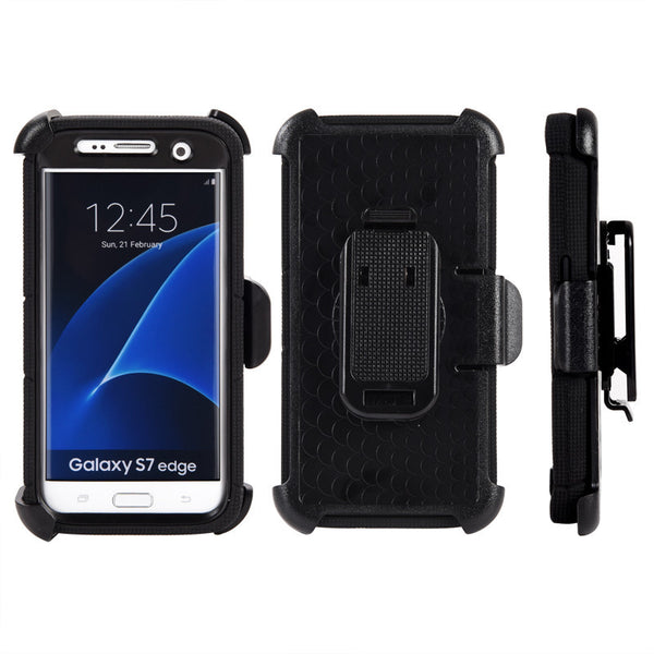 Samsung Galaxy S7 Edge Anti-Shock Case Holster Combo W/ Ring