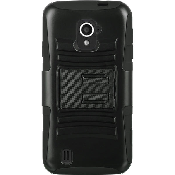 ZTE Source N9511 Hybrid Case Skin+ PC With H Style Stand