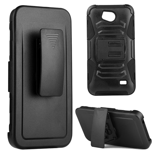 ZTE Tempo Hybrid Case Skin + PC With H Style Stand