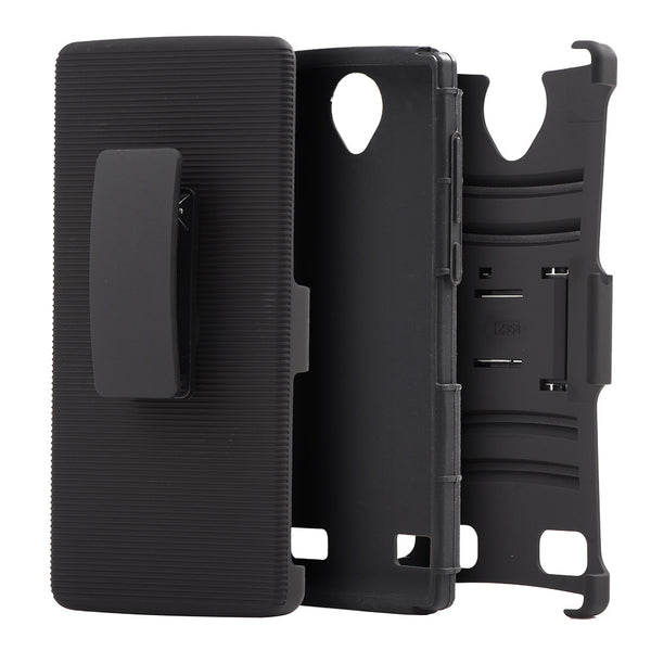 ZTE Z Max 2 Hybrid Case Skin+ PC With H Style Stand