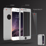 Slim 360 Protection iPhone Case w/Tempered Glass