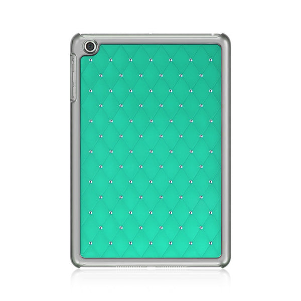 Apple iPad Mini Chrome Case Plaid Studded Diamond