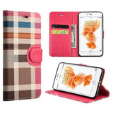 Apple iPhone7 Plaid Wallet With Card Slot
