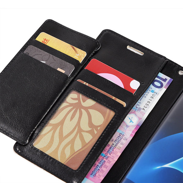 Samsung Galaxy S7 Compartment Card Slots Wallet Pouch