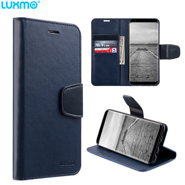 Luxmo Samsung Galaxy S8/S8 Plus Urban Classic Leather Wallet Case