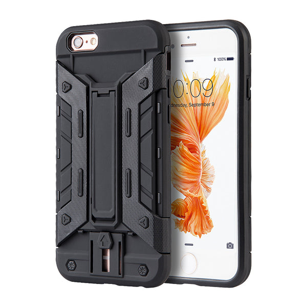 Slim Protective Hybrid iPhone Case with Card Slot and Kickstand